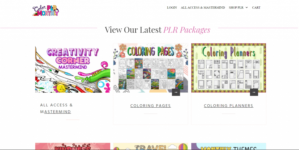 Color Monthly PLR Coloring Planners and Designs
