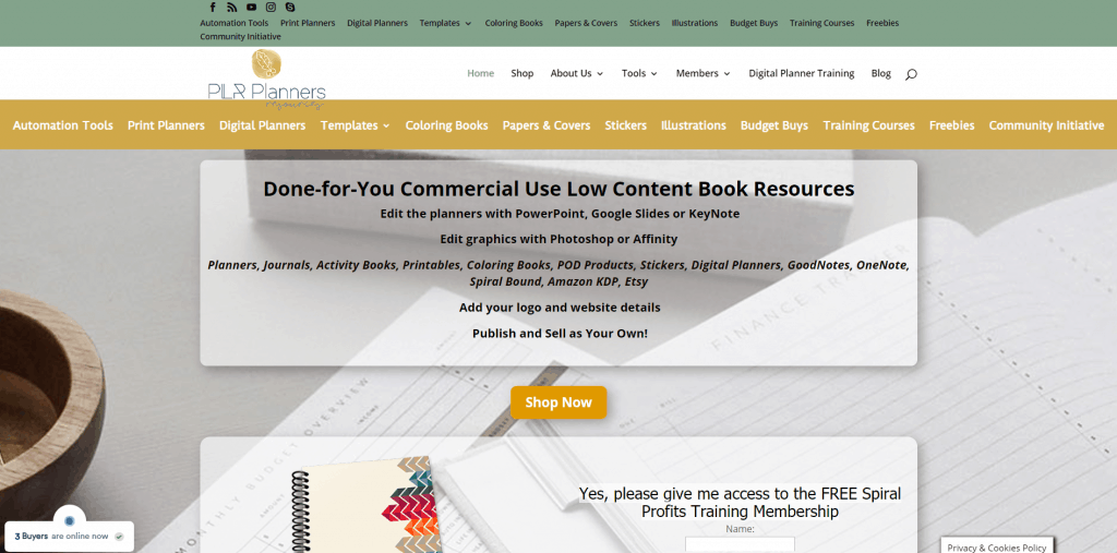 PLR Planners Commercial Use Low Content PLR