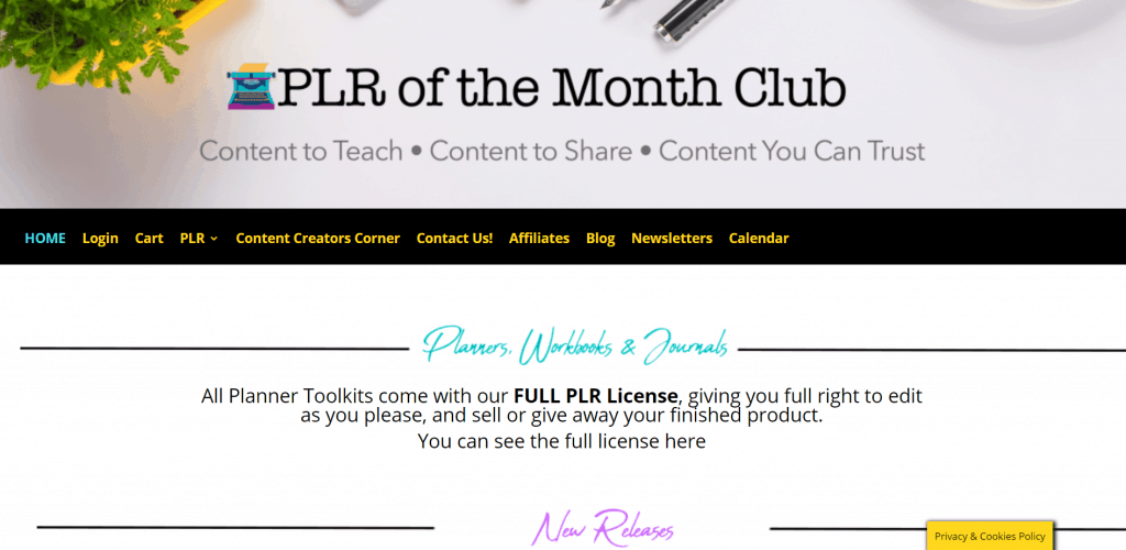 PLR of The Month Club PLR Planners Workbooks and Journals