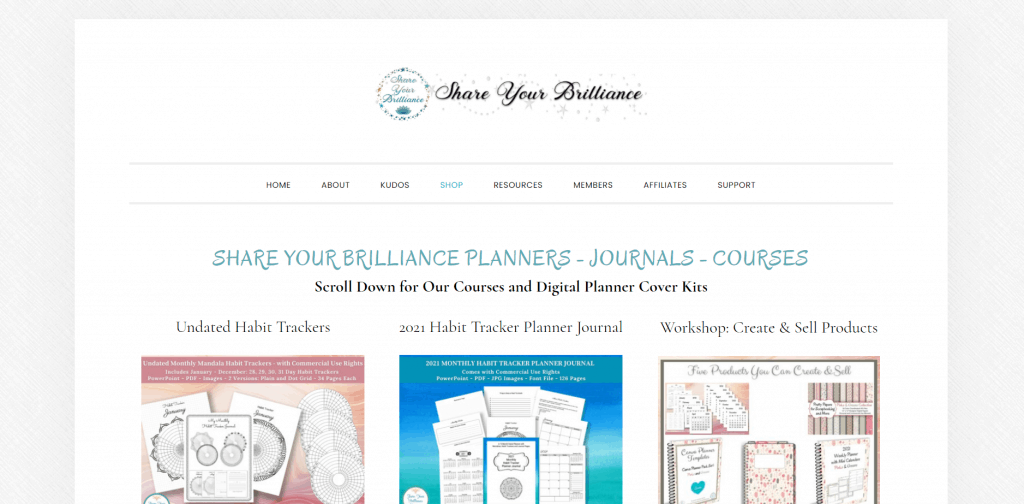 Share Your Brilliance Digital Planner PLR Cover Kits