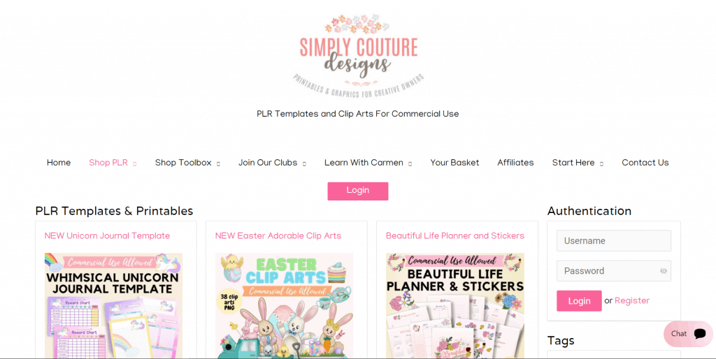 Simply Couture Designs PLR Planner Templates and Printables