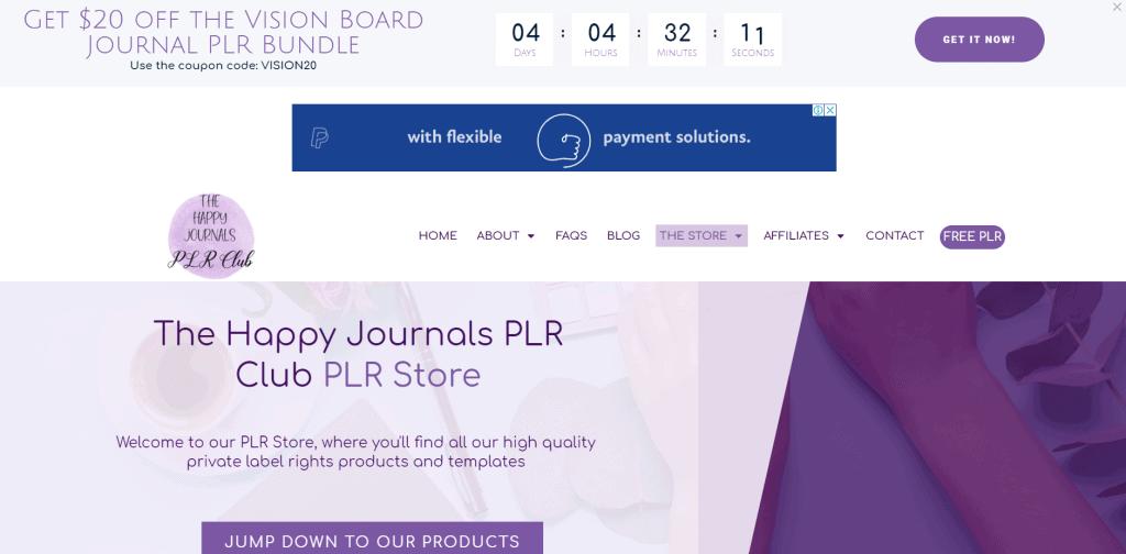 The Happy Journals PLR Club Personal Development PLR Printables