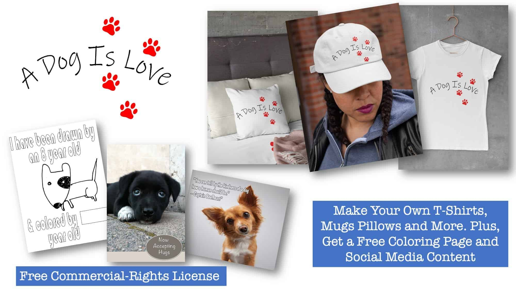 Free Dog Niche PLR Printable Product Templates Graphics and Coloring Pages
