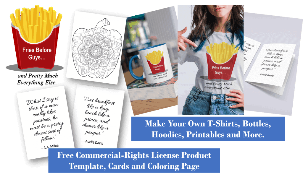 Free Food PLR Printable Product Templates Coloring Pages and Cards