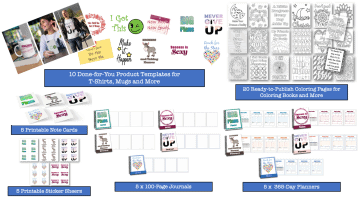 Goals Done for You PLR Printable Product Templates Coloring Pages Journals and Cards