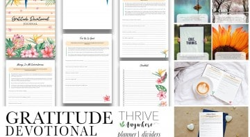 Gratitude Devotional PLR Journal Workbook Template