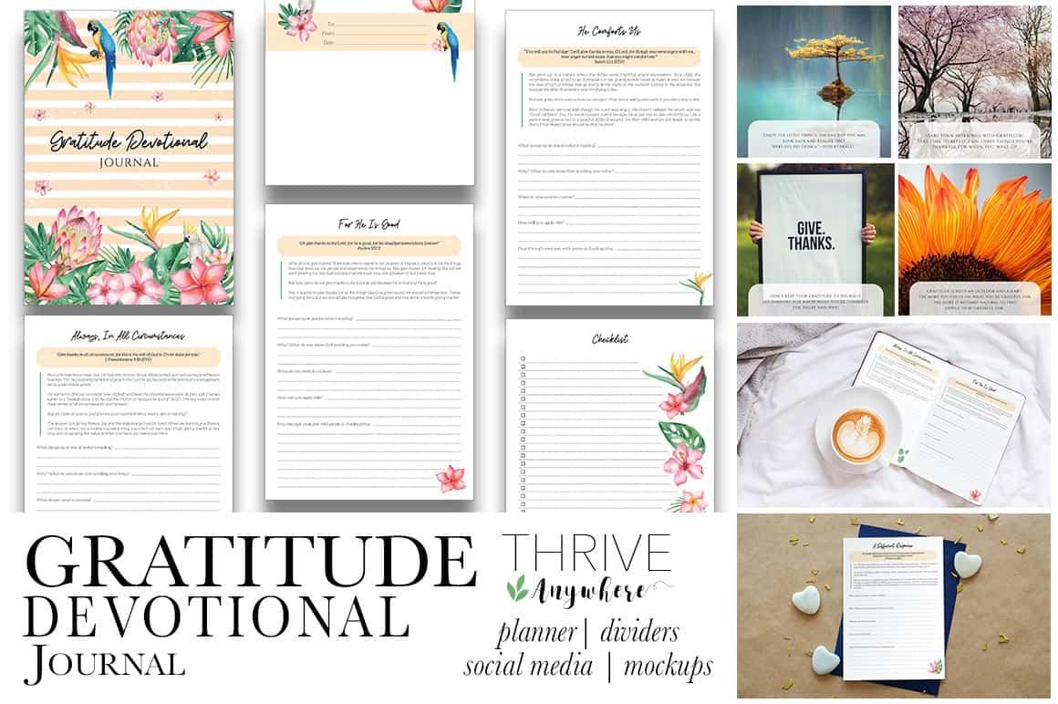 Gratitude Devotional PLR Journal Workbook Template