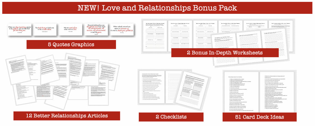 Love and Relationships PLR Graphics Articles Worksheets and Checklists