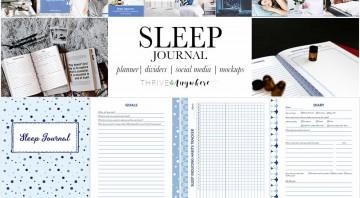 Sleep PLR Journal Planner Track Your Sleep