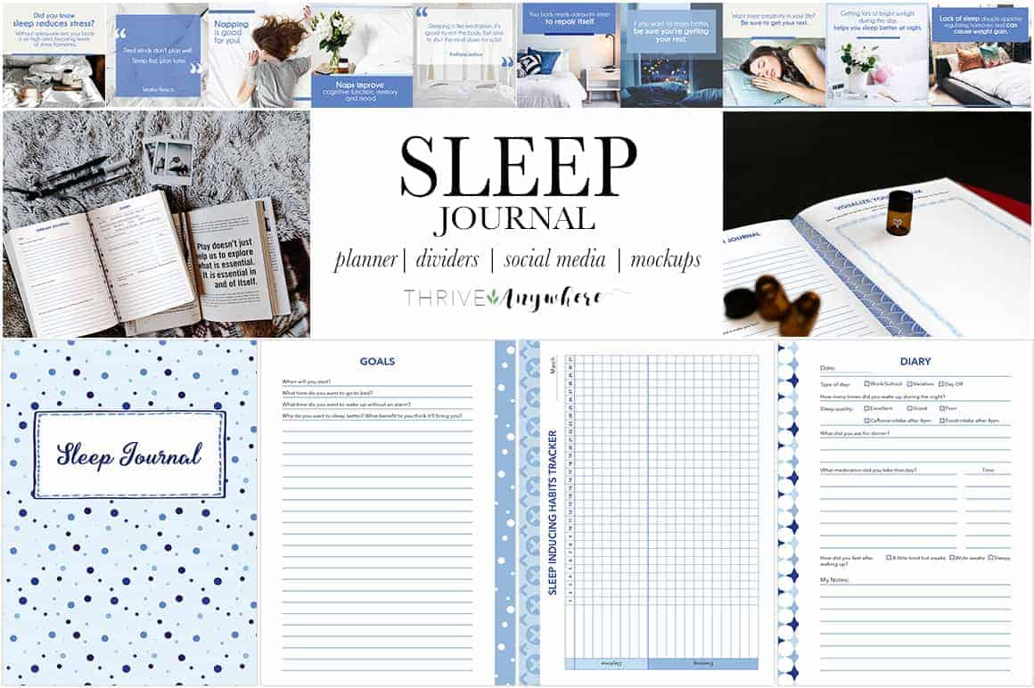 Sleep PLR Journal Planner Track Your Sleep