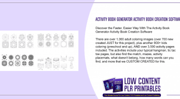 Activity Book Generator Activity Book Creation Software