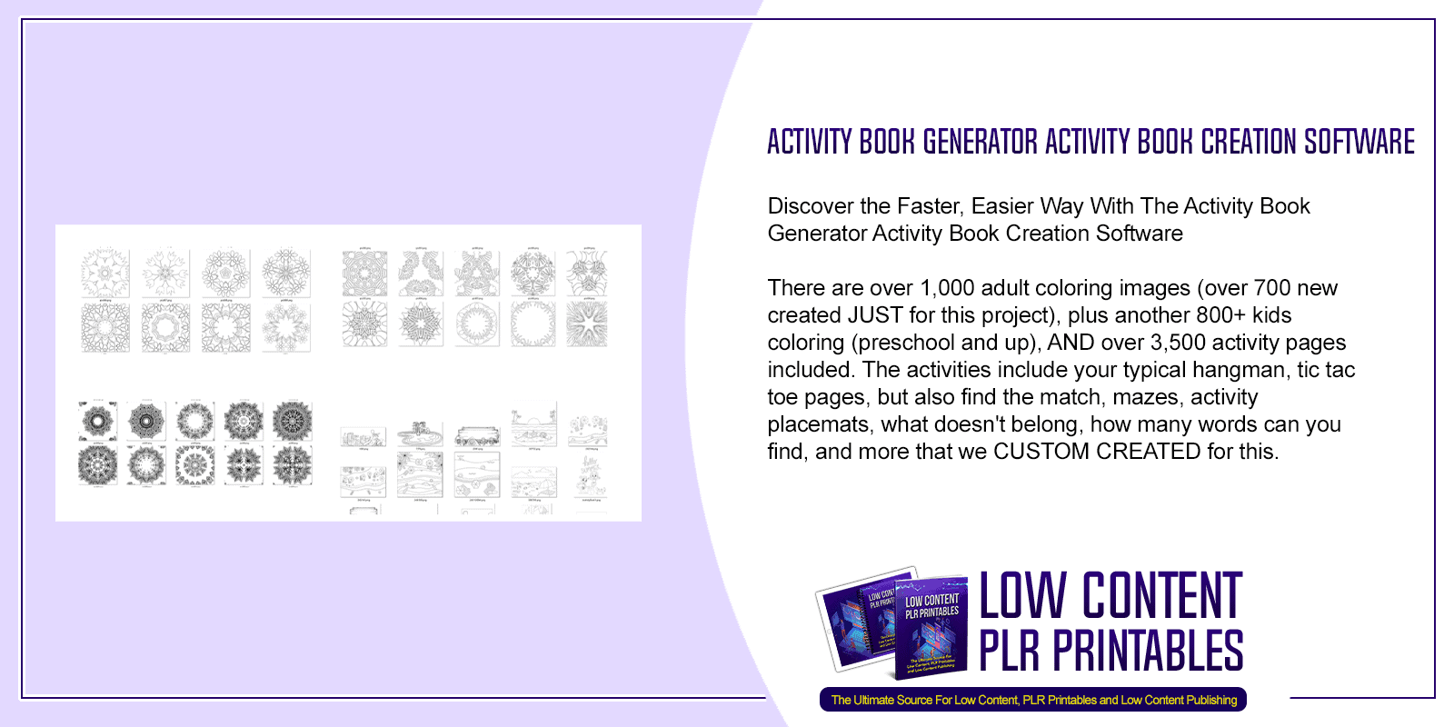 Activity Book Generator Activity Book Creation Software