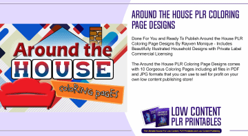Around the House PLR Coloring Page Designs