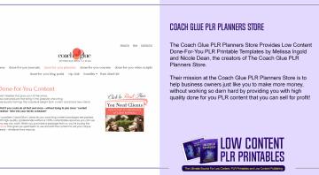 Coach Glue PLR Planners Store