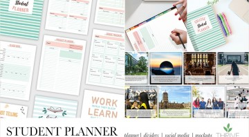 College Student PLR Planner Workbook Template