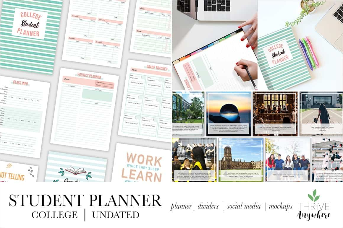 College Student PLR Planner Workbook Template