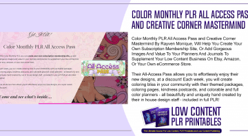 Color Monthly PLR All Access Pass and Creative Corner Mastermind