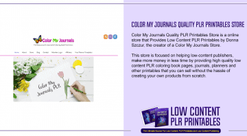 Color My Journals Quality PLR Printables Store