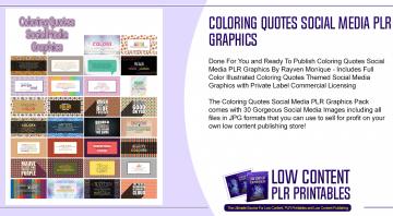 Coloring Quotes Social Media PLR Graphics