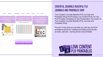 Createful Journals Beautiful PLR Journals and Printables Shop