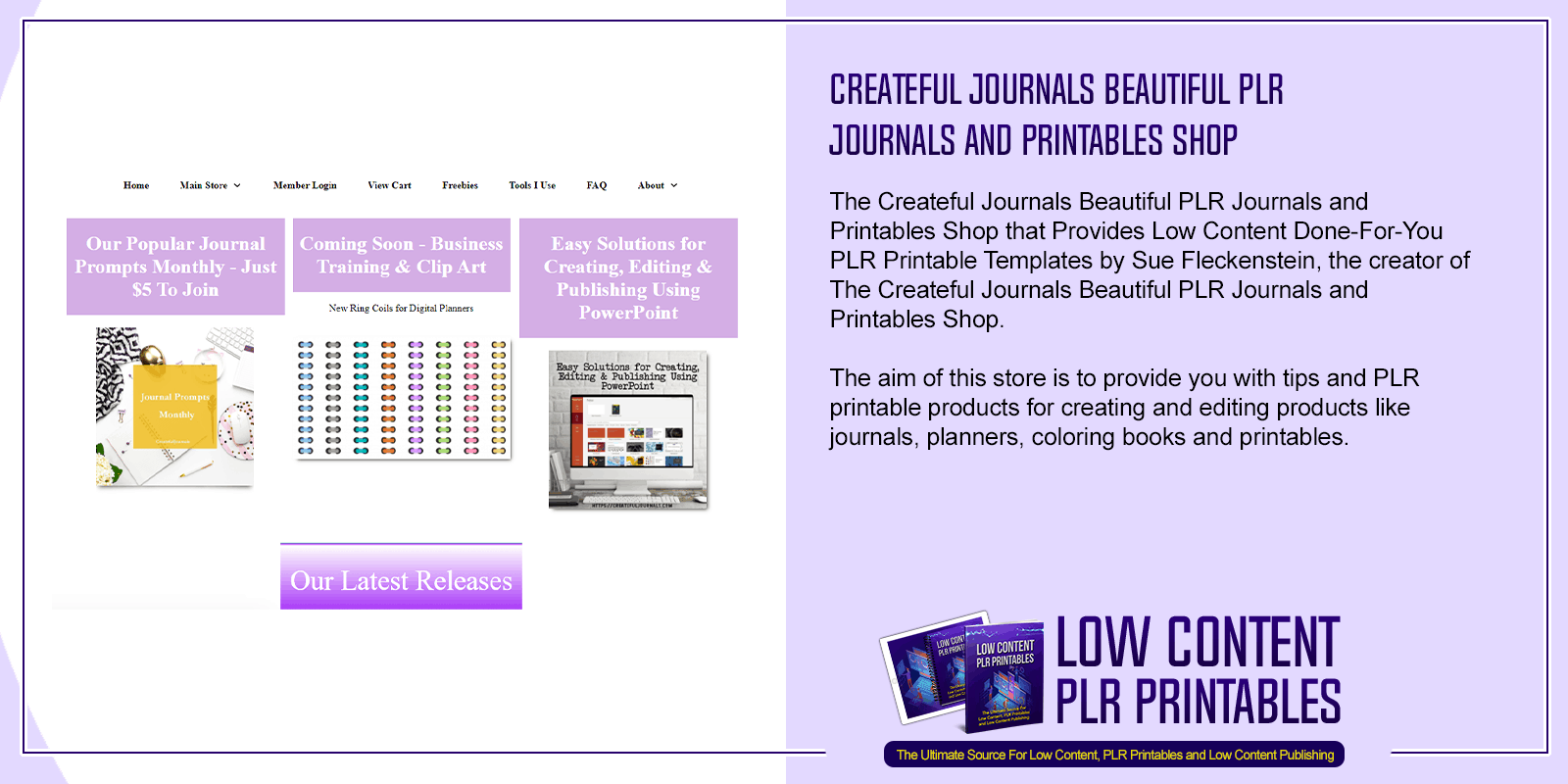 Createful Journals Beautiful PLR Journals and Printables Shop