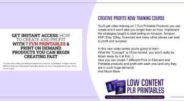Creative Profits Now Training Course