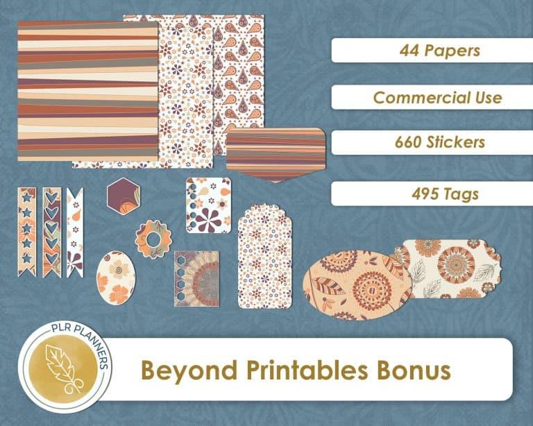 Digital Paper Bundle From PLR Planners Bonus 2