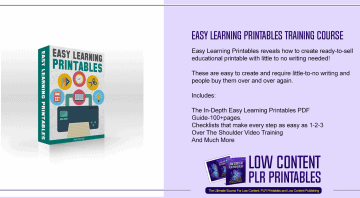 Easy Learning Printables Training Course