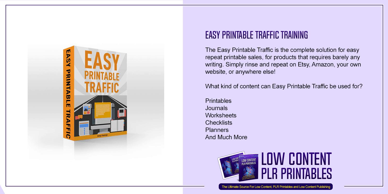Easy Printable Traffic Training