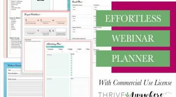 Effortless Webinar Done For You PLR Planner