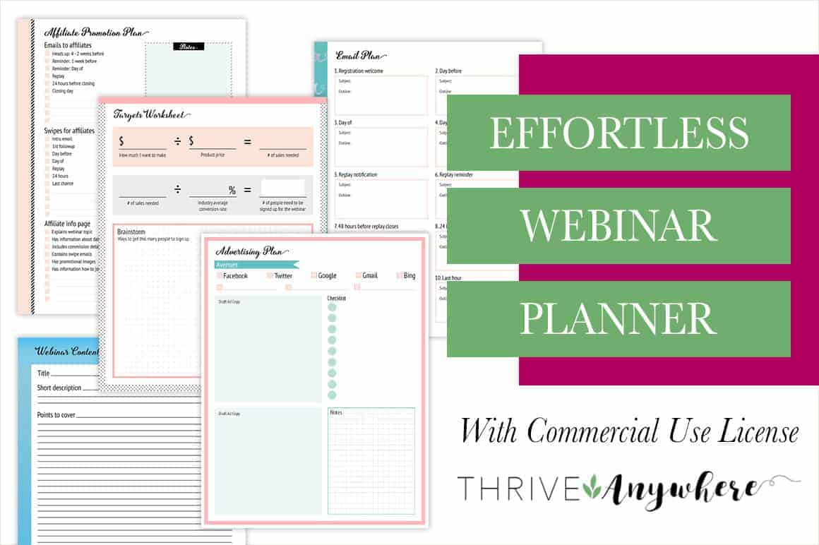 Effortless Webinar Done For You PLR Planner