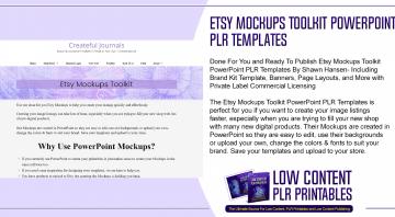 Etsy Mockups Toolkit PowerPoint PLR Templates