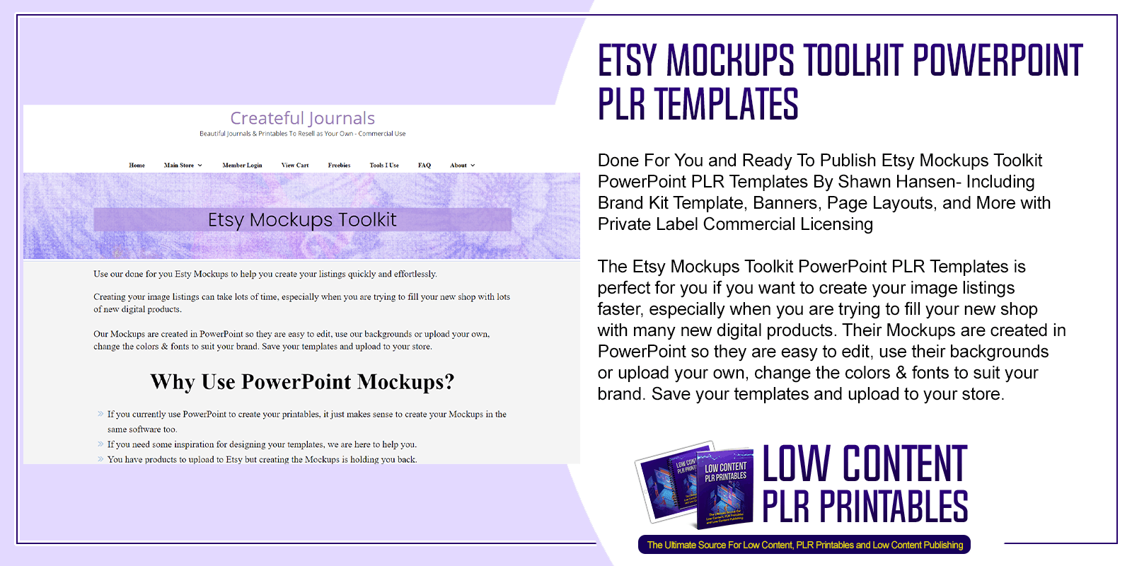 Etsy Mockups Toolkit PowerPoint PLR Templates