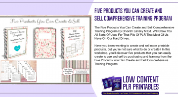 Five Products You Can Create and Sell Comprehensive Training Program