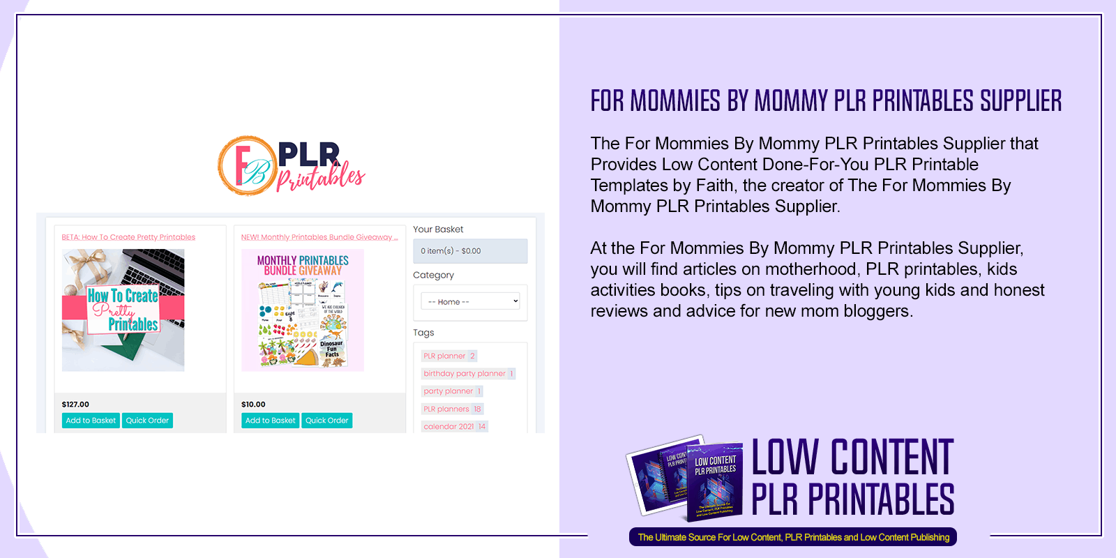 For Mommies By Mommy PLR Printables Supplier