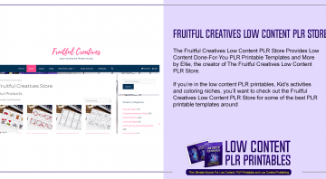 Fruitful Creatives Low Content PLR Store