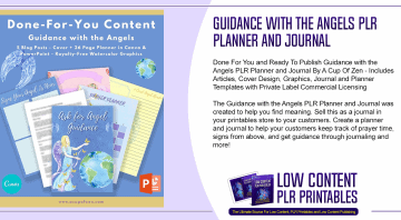 Guidance with the Angels PLR Planner and Journal