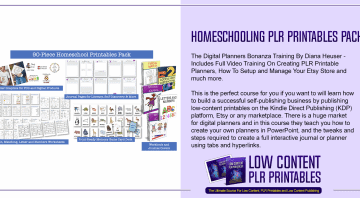 Homeschooling PLR Printables Pack