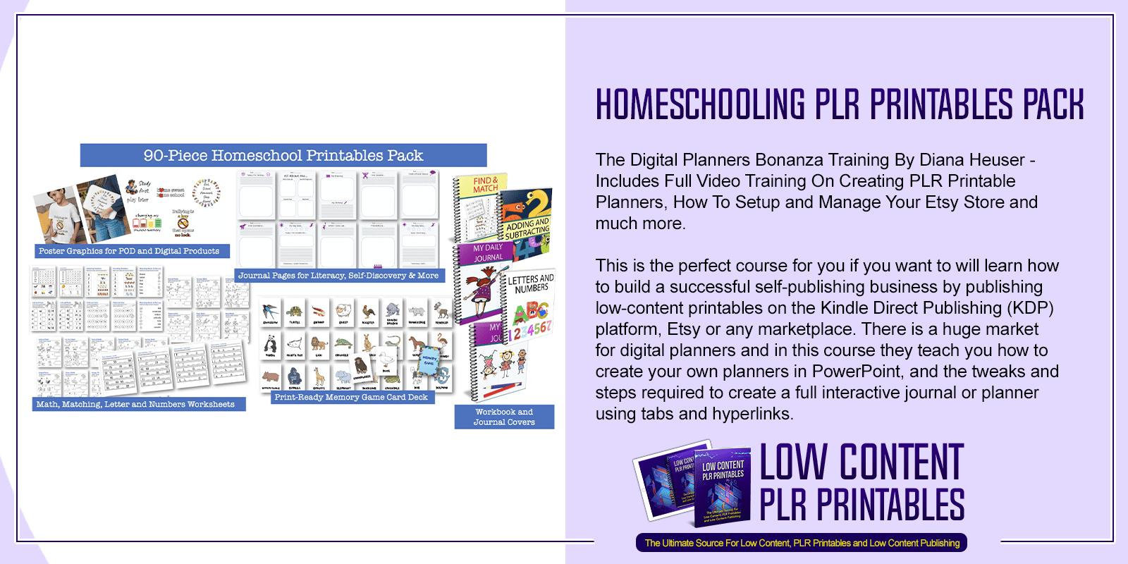 Homeschooling PLR Printables Pack