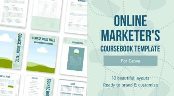 Online Marketers Coursebook Free Canva PLR Workbook Template