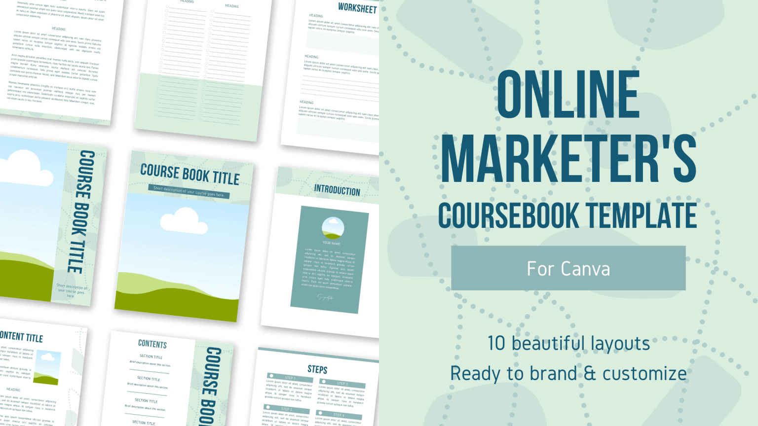 Online Marketers Coursebook Free Canva PLR Workbook Template