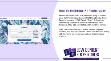 PLR Beach Professional PLR Printables Shop