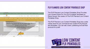 PLR Planners Low Content Printables Shop
