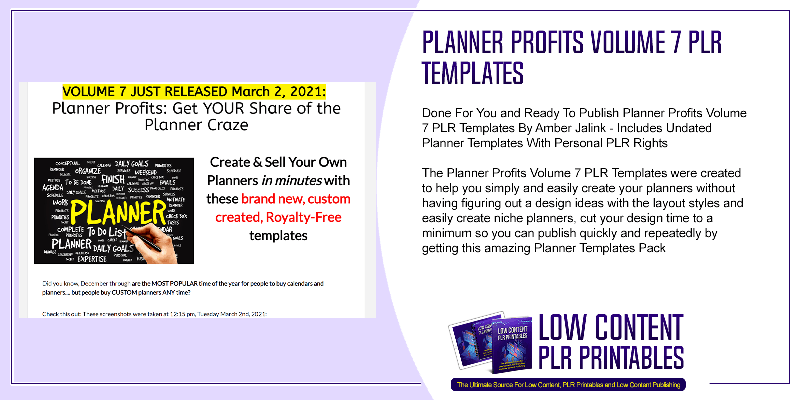 Planner Profits Volume 7 PLR Templates