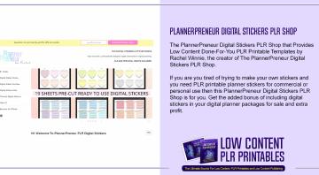 PlannerPreneur Digital Stickers PLR Shop