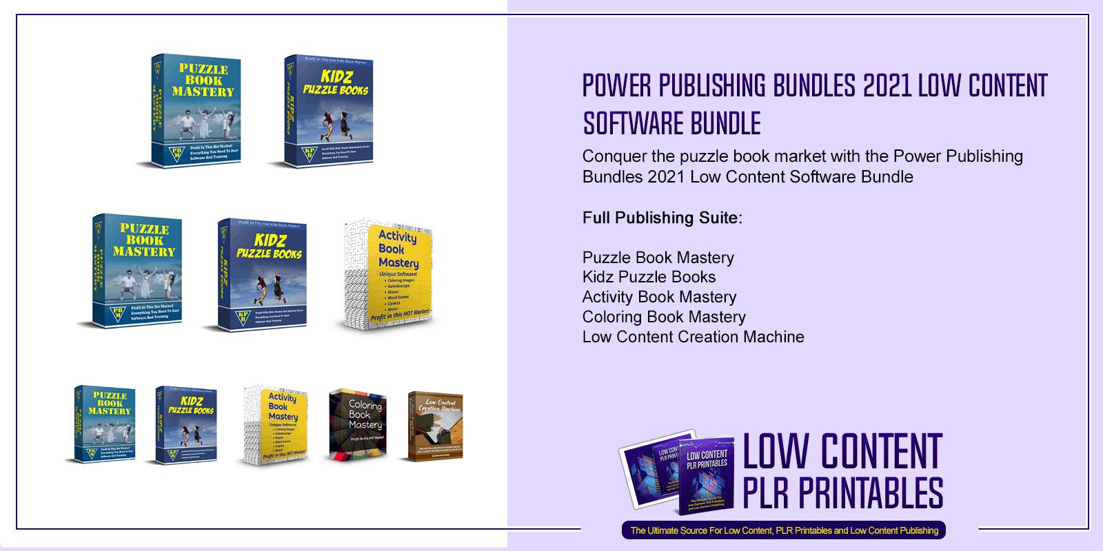Power Publishing Bundles 2021 Low Content Software Bundle 1
