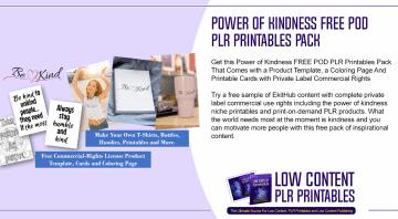 Power of Kindness Free POD PLR Printables Pack