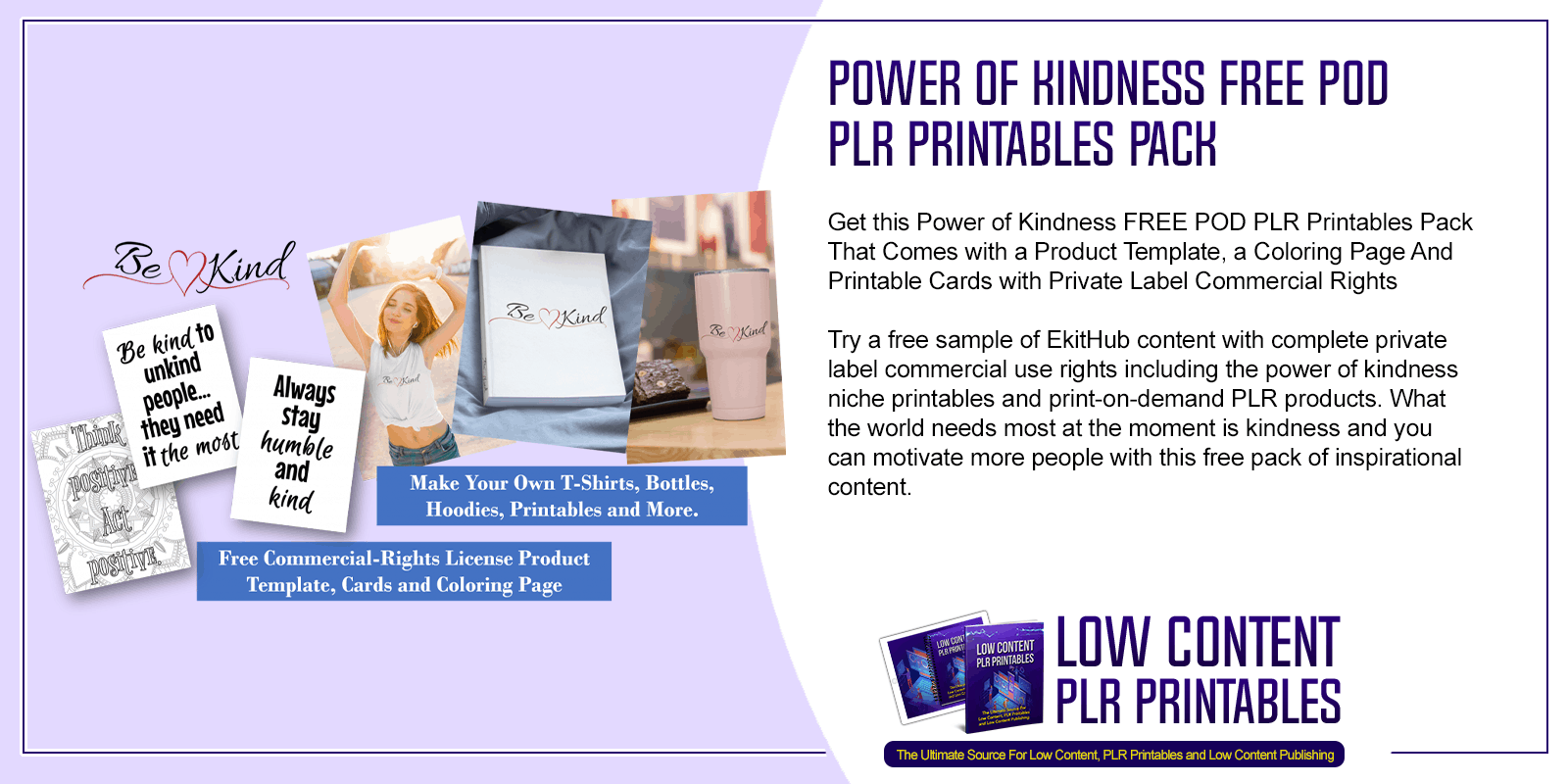 Power of Kindness Free POD PLR Printables Pack
