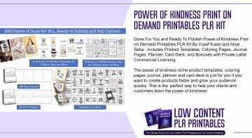 Power of Kindness Print on Demand Printables PLR Kit