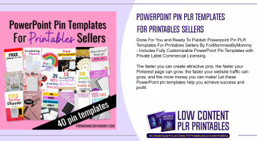 Powerpoint Pin PLR Templates For Printables Sellers